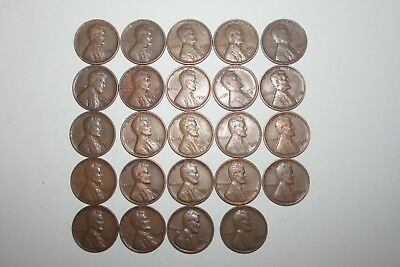 Lincoln wheat Cent collection. 1930-1939  pds set.24 coins read dates below .#1