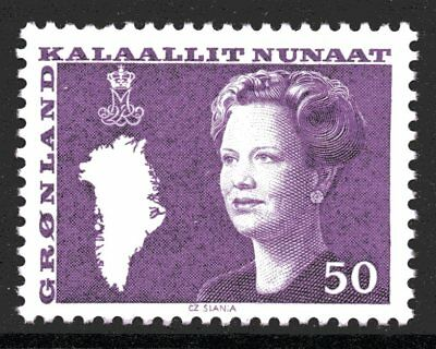Greenland 1981 50 Ore Queen Margrethe Mint Unhinged