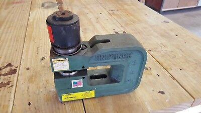 "Unipunch 4 A 2 1/2 Heavy Duty C-Frame Punch Tool,  1.25"" RND punch and 1.3"" Die"