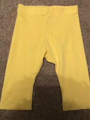 Next Yellow Capri 3/4 Length Girls Leggings Age 12-18 Months