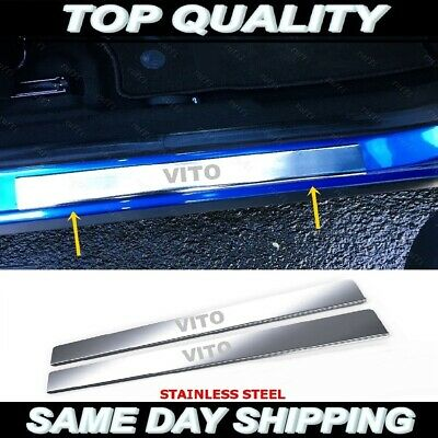 Vito W639 Chrome Door Sill Protector Plate Cover Stainless Steel 2003-2014