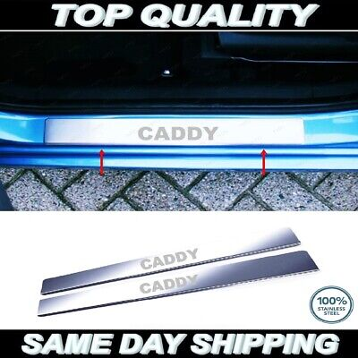 VW Caddy Chrome Door Sill Protector Plate Cover Stainless Steel 2004-2015