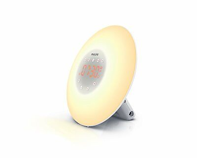 Philips Wake-Up Light Sunrise Simulation Natural Bedside Lamp Radio HF3505/01