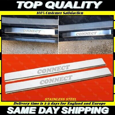 Ford Tourneo Connect Chrome Door Sill Protector Plate Cover 2002 Onwards S.Steel
