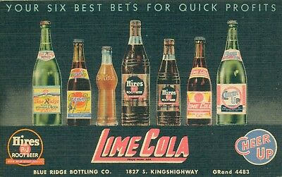Vintage Postcard Soda Bottling Plant Advertising Lime Cola St Louis MO