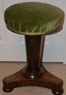 Stunning revolving piano stool - non functional adjustable mechanism but fixable