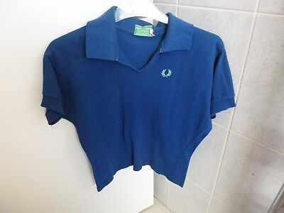 "VINTAGE FRED PERRY SPORTSWEAR Blue Short Sleeved Top Size 34"" Bust"