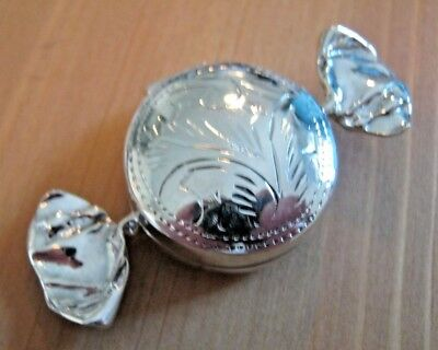 A Birmingham Hallmarked Solid Sterling Silver Sweet Box / Snuff Pill Keepsake