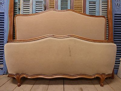 Vintage French King Size Bed - 160cm wide - ha194