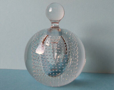 Murano Glas Parfum Flakon - perfume glass flacon / bottle vintage very rare