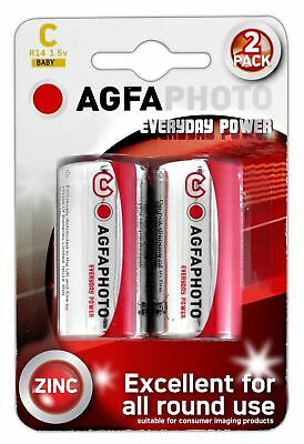 Agfa Photo Zinc Chloride C Size R14 1.5v Battery - Pack of 2