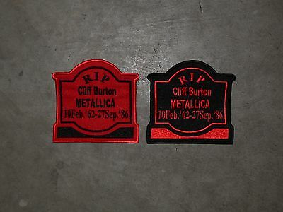 Cliff Burton  Memorial Tombstone patch...ACDC, Iron Maiden, Anthrax, Testament