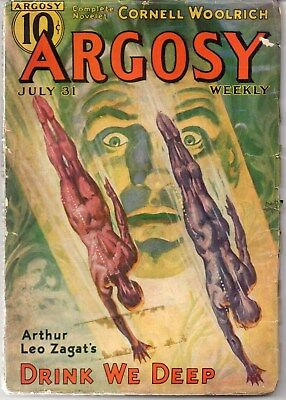 ARGOSY WEEKLY July 31 1937 Arthur Leo Zagat + uncollected Cornell Woolrich story