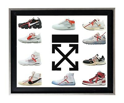 The 10 Ten Virgil Abloh Off White collection cartoon sneakers wall print poster