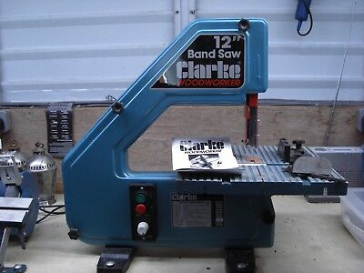 """Clarke 12"""" Band Saw. In good condition and working order. CBS12WV model."""