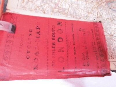London-South East England-Antique Cycle Map: Hand Colour & Annotation C1880-1910