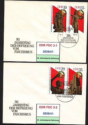 DDR-FDC 2038-2041, 2043, gestempelt, s. scan