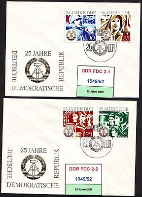 DDR-FDC 1949/52, gestempelt, s. scan