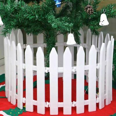 LX_ 5x White Plastic Picket Fence Miniature Garden Christmas Xmas Tree Decor H
