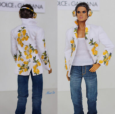 Fashion Royalty Integrity Doll Men Male Outfit , jacket and headphones