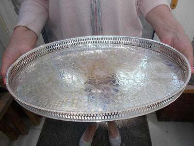 Vintage Viners Silver Plated Gallery Tray
