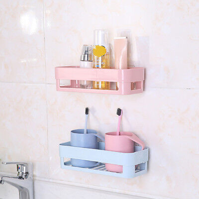 LX_ Bathroom Storage Basket Sundries Holder Kitchen Shelf Rack Organizer&Suc