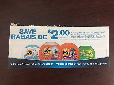 Canadian Coupons - 10 x $2.00 off Tide pods or Gain Flings