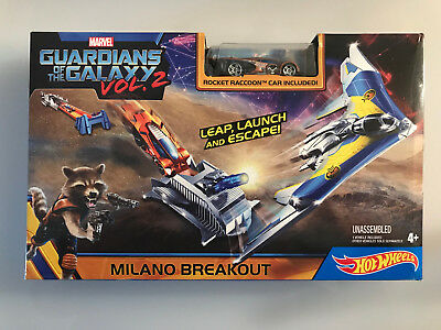 HOT WHEELS GUARDIANS of the GALAXY MILANO BREAKOUT Play set with Car NIB