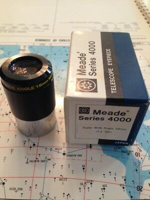 """Meade (Japan Smoothie) 1.25"""" 18mm Super Wide Angle Eyepiece with box"""