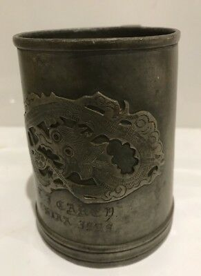 Chinese Dragon Yixing Hsin Ho Cheng Whieaiwei pewter tankard Antique