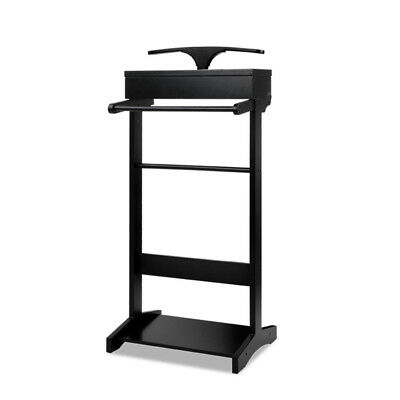 NEW Black Valet Stand With Storage DwellHome Coat Racks, Hall Trees & Umbrella S