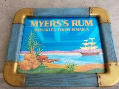 Vintage  Myers's Rum Jamaica Nautical Beer Mirror Sign - Great Condition