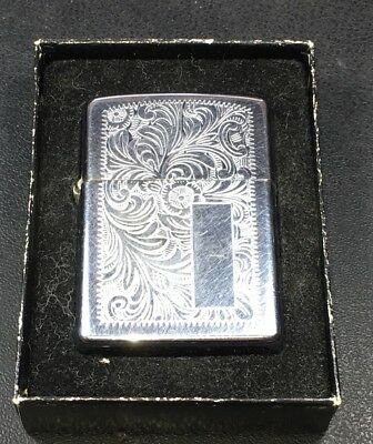 Vintage 1977 Zippo /// // Lighter With Scroll Work Not Engraved
