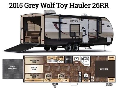 2015 Grey Wolf Toy Hauler 36 RR