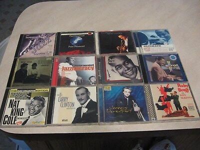 Mixed lot of 12 Jazz CD's nice shape-FROM ESTATE lot 22