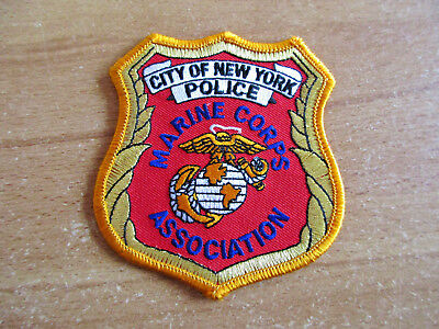 Police, City of New York, Marine Corps Association, Patch, Uniform, Abzeichen,