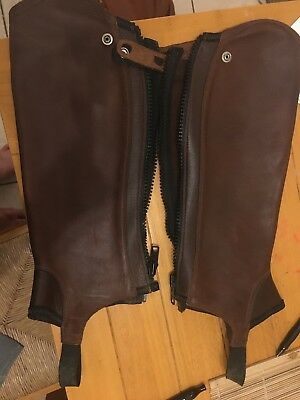 ARIAT CONCORD CHAPS brown Size Large Short