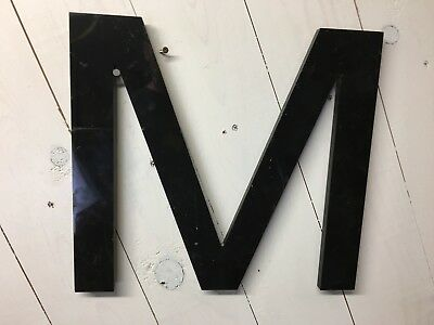 "Vintage SIGN LETTER  Cast Plastic 14"" Letter ""M"" Movie Marquee THEATRE"