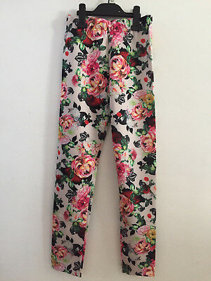 Girls ex River Island Kids Floral Draping Trousers in Pink
