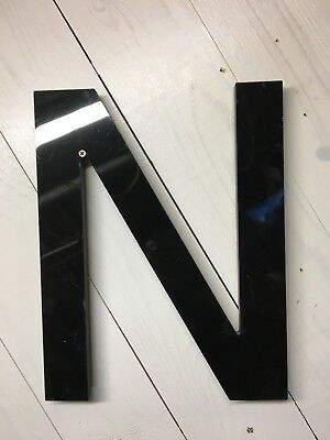 "Vintage SIGN LETTER  Cast Plastic 14"" Letter ""N"" Movie Marquee THEATRE"
