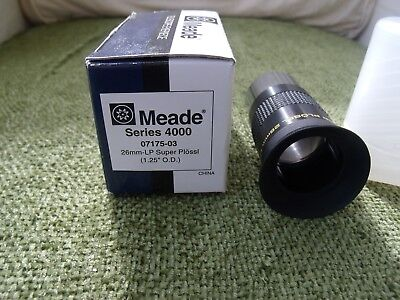 Meade Series 4000. 26mm LP Eyepiece. Boxed with case.