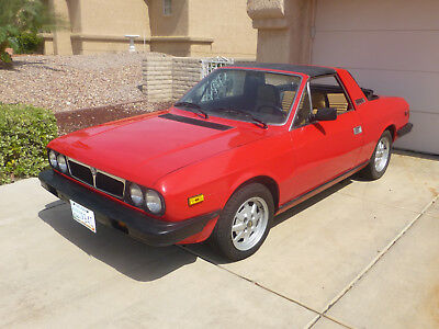1982 Lancia Other Standard Factory Trip Red 1982 Lancia Beta Zagato Spyder
