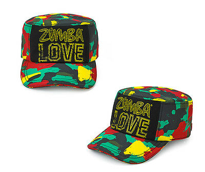 ZUMBA Fitness One Zumba Love Military Hat Mell-Oh Yellow New/Tag Free Ship