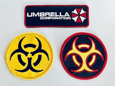 Resident Evil Umbrella Corporation Embroidered Iron On Patches (US Seller!!)