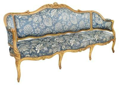 FRENCH LOUIS XV STYLE PARCEL GILT LONG SOFA, 19th Century ( 1800s )