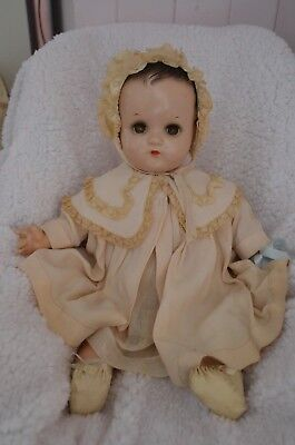 Vintage Madame Alexander doll, 17 inches, good condition for the age, circa 1940