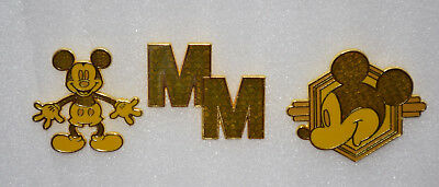 Disney Mickey Mouse Memories February Limited Edition Pin Set Gold Series 2/12