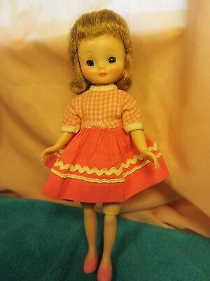 """Betsy McCall Doll 8"""" American Character Strawberry blonde Blue eyes pretty face"""