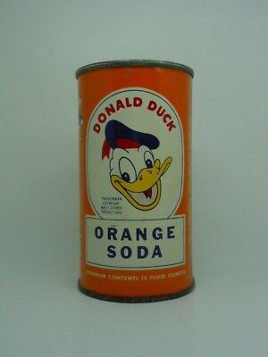 Donald Duck Orange Flat Top Soda Can-Chattanooga TENNESSEE