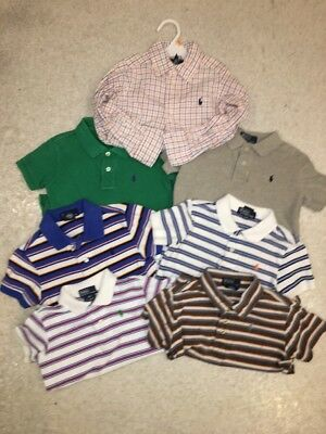 Ralph Lauren Polo Boys Toddler 3T Lot! Polo Oxford Summer Collection Lot Of 7!!!